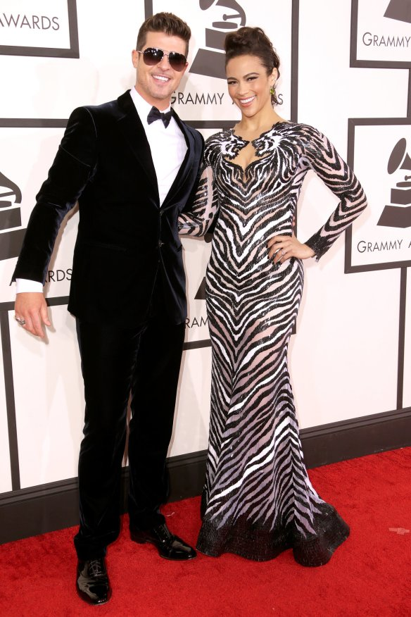 Robin-Thicke-Paula-Patton-were-all-smiles-Grammys
